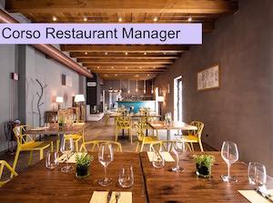 La locandina del corso per Restaurant Manager.