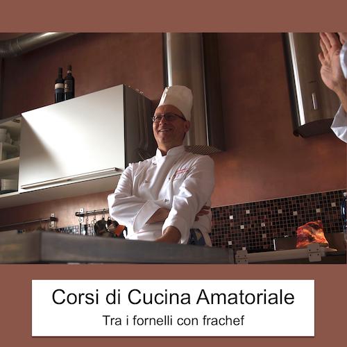 La locandina dei corsi pratici di cucina amatoriale.
