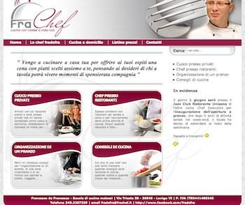 La home page del mio nuovo sito come Cuoco a Domicilio.