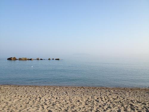 La spiaggia con lo stupendo mare a Tonnarella.