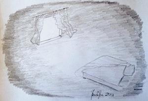 Notte è il titolo del mio secondo disegno.