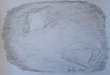 Il disegno di una mia meditazione, l'ho intitolato Notte.