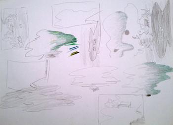 Studi per il disegno di quadri, come lezioni per il nostro miglioramento e prove di vita, passate, attuali e future.